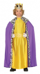KING WISE MAN IN GOLD AND PURPLE NATIVITY COSTUME WITH CROWN